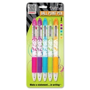 Zebra® Z-Grip Floral Ballpoint Pens, 1.0 mm, Assorted, 5/Pack
