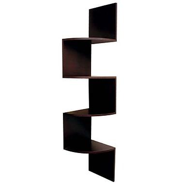 Nexxt Provo Corner Shelf Wood, Espresso, 57