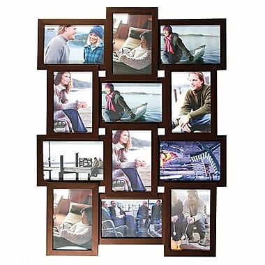 Nexxt Array Collage Wall Frame, 12-Openings, Java, 25