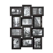 Nexxt – Cadre à collage à double niveau Revet, noir, 12 photos 4 x 6