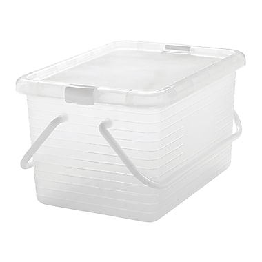 IRIS® 15.3 Quart Storage Basket, Clear, 8 Pack (136054)