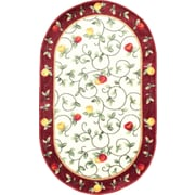 """Anglo Oriental Delight Oval Area Rug, 3'0"""" x 5'0"""", Burgundy"""