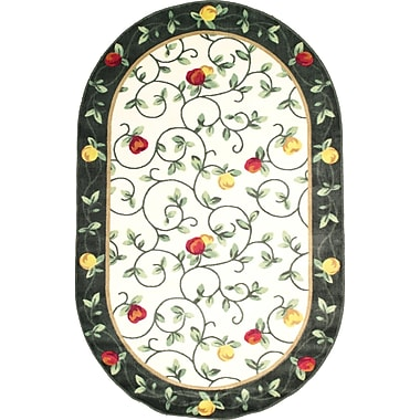 Anglo Oriental Delight Oval Area Rug, 5'0