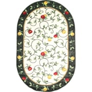 """Anglo Oriental Delight Oval Area Rug, 5'0"""" x 8'0"""", Green"""