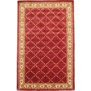 "Anglo Oriental Epic  Area Rug, 5'0"" x 8'0"", Burgundy"