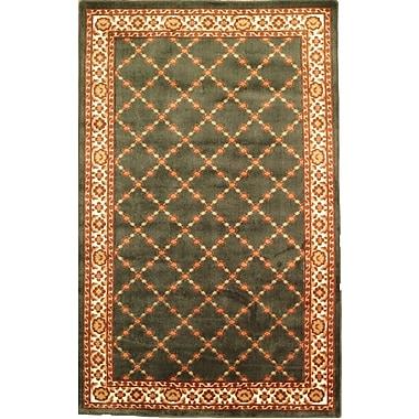Anglo Oriental - Tapis décoratif Epic, 5 pi 0 po x 8 pi 0 po, vert