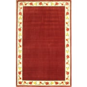 "Anglo Oriental Eternal Oval Area Rug, 5'0"" x 8'0"", Burgundy"