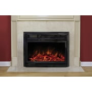"Paramount 28"" Electric Fireplace Insert in Gloss Black"