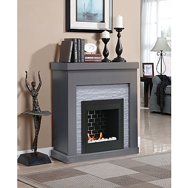Gel Fuel Fireplace White Real Flame