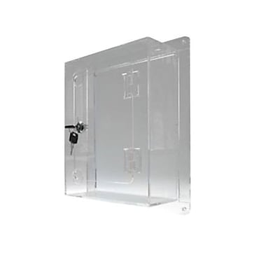 Unitech Plastic Locking Wall Mounted Protective Box, Clear