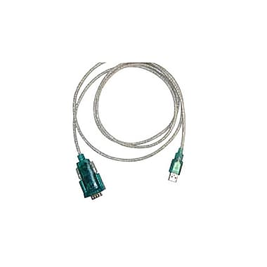 Unitech 6' RS232/USB Adapter Cable, Translucent