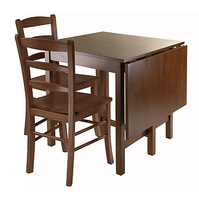 Winsome Lynden Wood/Veneer Sets Table, Walnut, Each (94343)