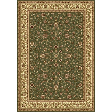 Dynamic Rugs Taj Green/Cream Area Rug; Rectangle 2' x 3'5''