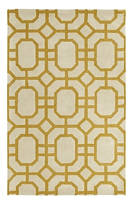 Dynamic Rugs Palace Yellow/Ivory Area Rug; 9'6'' x 13'6''