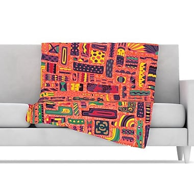 KESS InHouse Squares Fleece Throw Blanket; 40'' L x 30'' W