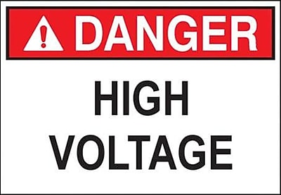 Morris Products 'Danger Buried Cable High Voltage' Safety Signs