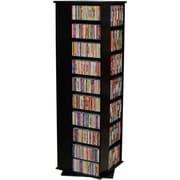 Venture Horizon VHZ Entertainment 1160 CD Multimedia Revolving Tower; Black with Oak Top