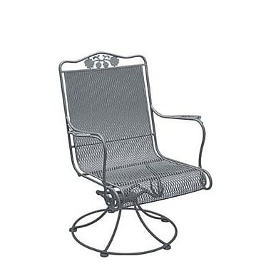 Woodard Briarwood High Back Lounge Chair; Hammered Pewter