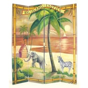 Wayborn 72'' x 64'' The Big Island 4 Panel Room Divider