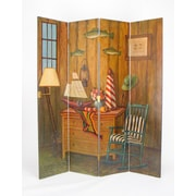 Wayborn 72'' x 64'' Fisherman 4 Panel Room Divider