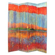 Wayborn 72'' x 64'' Fall in the Forest 4 Panel Room Divider