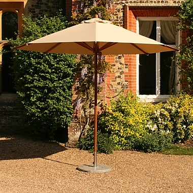 Bambrella Levante 10' Market Umbrella; Harvest Wheat