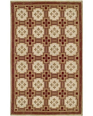 American Home Rug Co. Neo Nepal Empire Gold/Burgundy Area Rug; Rectangle 9' x 12'