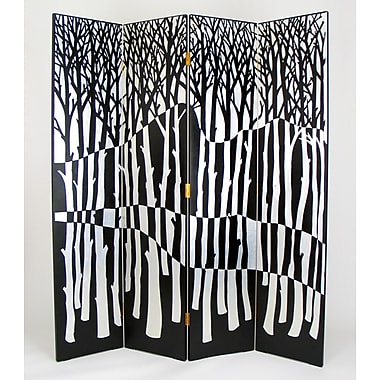 Wayborn 72'' x 64'' Forest 4 Panel Room Divider