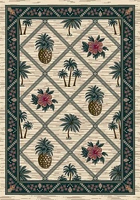 Milliken Signature Palm Bay Pearl Area Rug; Round 7'7''