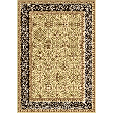 Dynamic Rugs Taj Ivory/Black Area Rug; 3'11'' x 5'7''
