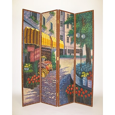 Wayborn 72'' x 64'' Flower Market 4 Panel Room Divider
