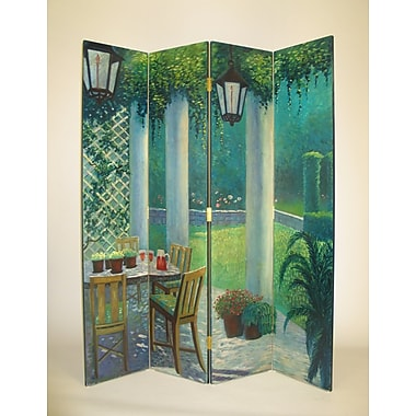 Wayborn 64'' x 72'' Scene from the Porch 4 Panel Room Divider