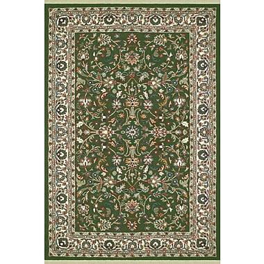 American Home Rug Co. American Home Classic Kashan Emerald/Ivory Area Rug; 4' x 6'