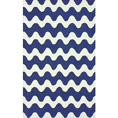 nuLOOM Serendipity Blue Flourish Area Rug; 7'6'' x 9'6''