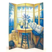 Wayborn 72'' x 64'' The Den 4 Panel Room Divider