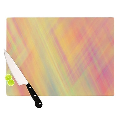 KESS InHouse Pastel Abstract Cutting Board; 11.5'' H x 8.25'' W x 0.25'' D