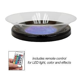 Buffet Enhancements Round Lighted Ice Display; Black