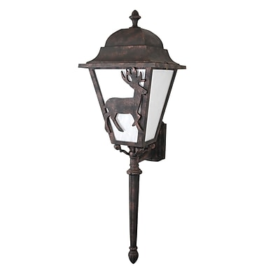 Melissa Americana 3-Light Outdoor Sconce; Black