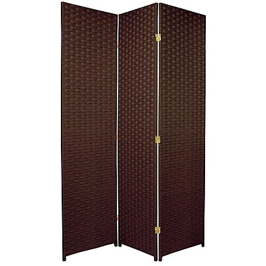 Oriental Furniture 70.75'' x 52.5'' 3 Panel Room Divider; Dark Mocha