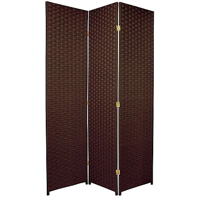 Oriental Furniture 70.75'' x 52.5'' 3 Panel Room Divider; Dark Mocha