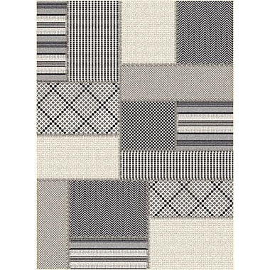 Dynamic Rugs Piazza Geometric Gray/Beige Outdoor Area Rug; Rectangle 3'11'' x 5'7''