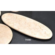 Creative Home The Byzantine Marble Oval Board in Champagne