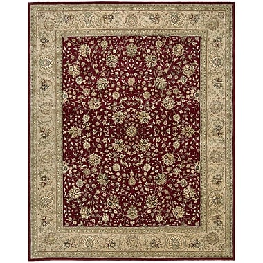 Nourison 2000 Red/Beige Area Rug; Oval 7'6'' x 9'6''