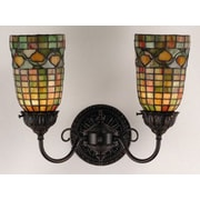 Meyda Tiffany Victorian Tiffany Acorn 2 Light Wall Sconce