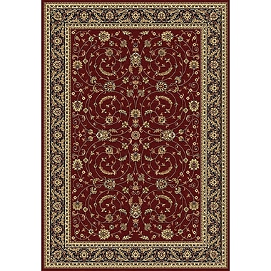 Dynamic Rugs Taj Red/Black Area Rug; Rectangle 3'11'' x 5'7''