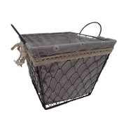 Cheungs Square Lined Wire Basket; Medium