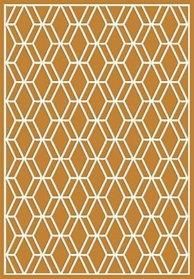 Dynamic Rugs Trend Orange Geometric Area Rug; Rectangle 2' x 3'7''