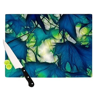 KESS InHouse Leaves Cutting Board; 11.5'' H x 15.75'' W x 0.25'' D