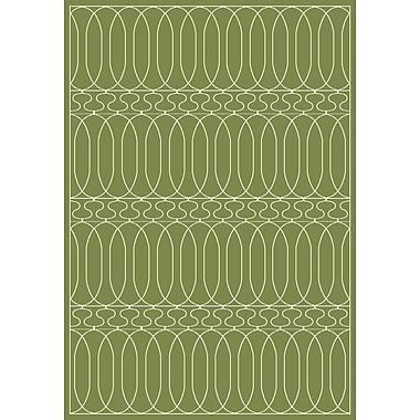 Dynamic Rugs Trend Dark Green Geometric Area Rug; Rectangle 3'11'' x 5'3''