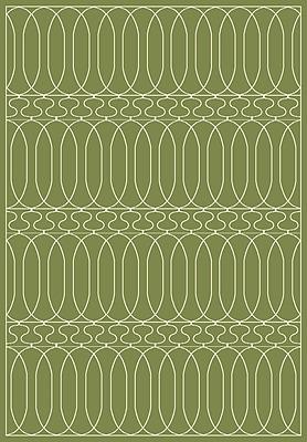 Dynamic Rugs Trend Dark Green Geometric Area Rug; Rectangle 6'7'' x 9'6''